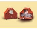 Zegar gabinetowy z 6 kryształowymi kieliszkami